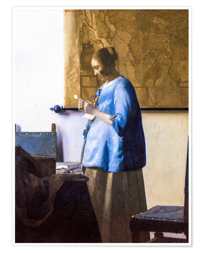 Premium poster Woman Reading a Letter