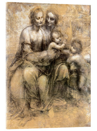 Acrylic glass  The Virgin and Child with Saint Anne - Leonardo da Vinci