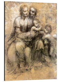 Aluminium print  The Virgin and Child with Saint Anne - Leonardo da Vinci