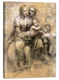 Canvas print  The Virgin and Child with Saint Anne - Leonardo da Vinci