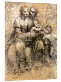 Foam board print  The Virgin and Child with Saint Anne - Leonardo da Vinci