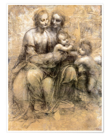 Premium poster  The Virgin and Child with Saint Anne - Leonardo da Vinci