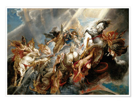 Premium poster  Fall of Phaeton - Peter Paul Rubens