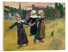 Wood  Breton Girls Dancing Pont-Aven - Paul Gauguin
