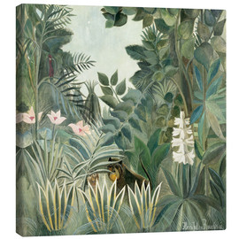 Canvas  Equatorial jungle - Henri Rousseau