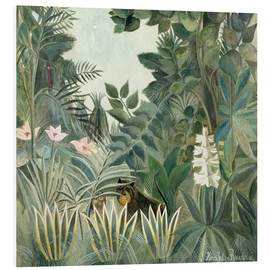 Foam board print  Equatorial jungle - Henri Rousseau