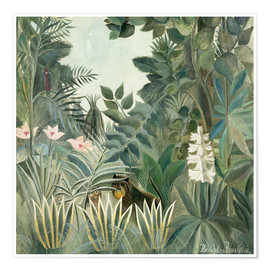 Henri Rousseau - Equatorial jungle