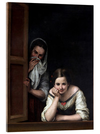 Acrylic print  Women from Galicia at the window - Bartolome Esteban Murillo