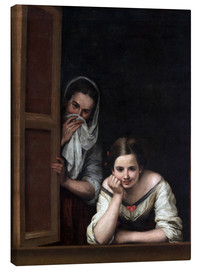 Canvas  Women from Galicia at the Window - Bartolome Esteban Murillo