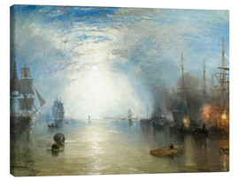 Canvas print  Keelmen Heaving in Coals by Moonlight - Joseph Mallord William Turner