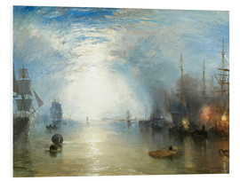 Foam board print  Keelmen Heaving in Coals by Moonlight - Joseph Mallord William Turner