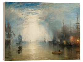 Wood print  Keelmen Heaving in Coals by Moonlight - Joseph Mallord William Turner