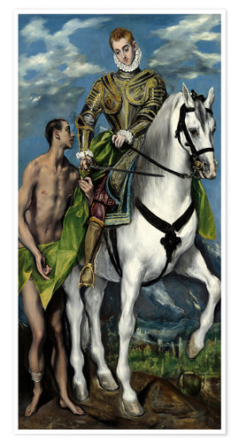 Premium poster St. Martin and the Beggar