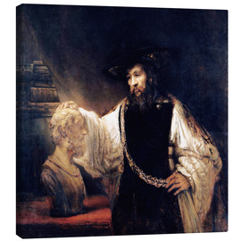 Canvas print  Aristotle with a Bust of Homer - Rembrandt van Rijn