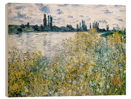 Wood  Banks of the Seine, Vetheuil - Claude Monet