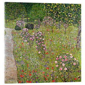 Acrylic glass  Orchard with roses - Gustav Klimt
