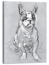Canvas print  'Bouboule', the bulldog of Madame Palmyre at La Souris - Henri de Toulouse-Lautrec