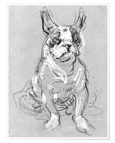 Premium poster 'Bouboule', the bulldog of Madame Palmyre at La Souris