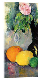 Acrylic glass  Flowers and fruits - Paul Cézanne