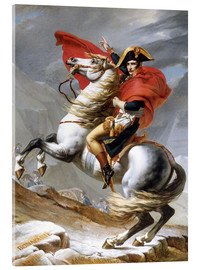 Acrylic print  Napoleon Crossing the Grand Saint-Bernard Pass - Jacques-Louis David