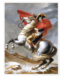 Premium poster Napoleon Crossing the Grand Saint-Bernard Pass