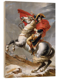 Wood print  Napoleon Crossing the Grand Saint-Bernard Pass - Jacques-Louis David