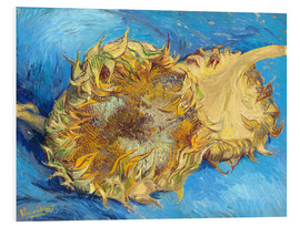 Foam board print  Two sunflowers - Vincent van Gogh