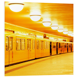 Foam board print  Berlin subway - bildpics
