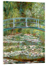 Acrylic glass  the japanese bridge - Claude Monet