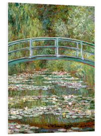 Foam board print  The Japanese bridge - Claude Monet