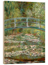 Wood print  The Japanese bridge - Claude Monet