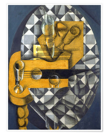 Premium poster  Guitar, Bottle, and Glass - Juan Gris