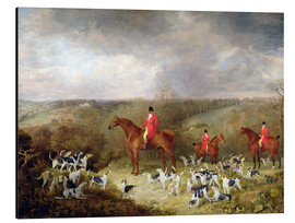 Aluminium print  Lord Glamis and his hunting dogs, 1823 - Dean Wolstenholme