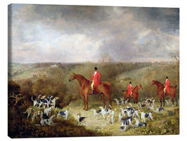Canvas print  Lord Glamis and his hunting dogs, 1823 - Dean Wolstenholme