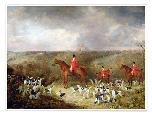 Premium poster Lord Glamis and his hunting dogs, 1823
