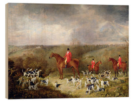 Wood print  Lord Glamis and his hunting dogs, 1823 - Dean Wolstenholme