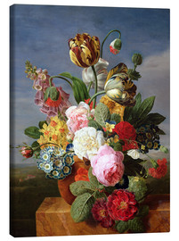 Canvas print  Bouquet of flowers in a vase - Jan Frans van Dael