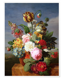 Premium poster  Bouquet of flowers in a vase - Jan Frans van Dael