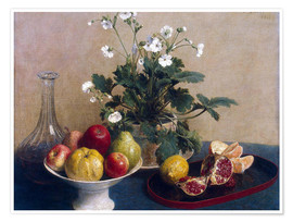 Premium poster  Apples, Pears and Grapes - Paul Cézanne