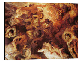 Aluminium print  Detail of the 'Small' Last Judgement - Peter Paul Rubens
