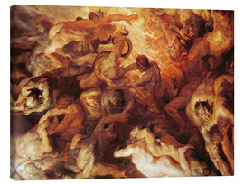 Canvas print  Detail of the 'Small' Last Judgement - Peter Paul Rubens