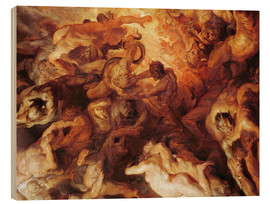 Wood print  Detail of the 'Small' Last Judgement - Peter Paul Rubens