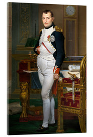 Acrylic print  Napoleon in his study at the Tuileries - Jacques-Louis David