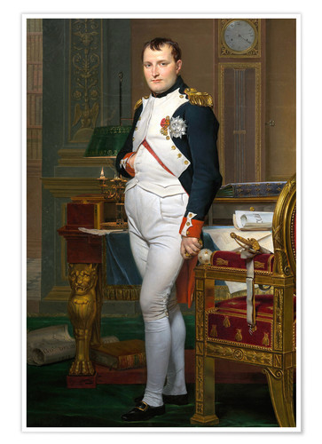 Premium poster Napoleon in his study at the Tuileries