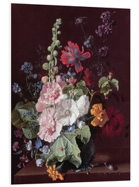 Forex  Mallows and other flowers in a vase, 1702-20 - Jan van Huysum