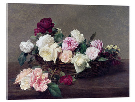 Acrylic glass  Basket with roses - Henri de Fantin-Latour
