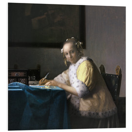 Foam board print  A Lady Writing - Jan Vermeer