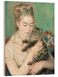 Wood  Woman with a cat - Pierre-Auguste Renoir