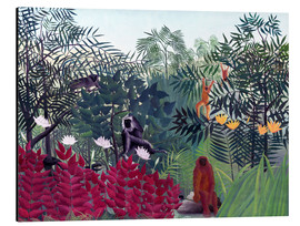 Aluminium print  Tropical forest with monkeys - Henri Rousseau