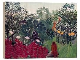 Wood  Tropical Forest with Monkeys - Henri Rousseau